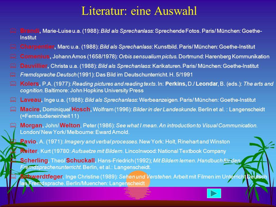 Literatur: eine Auswahl