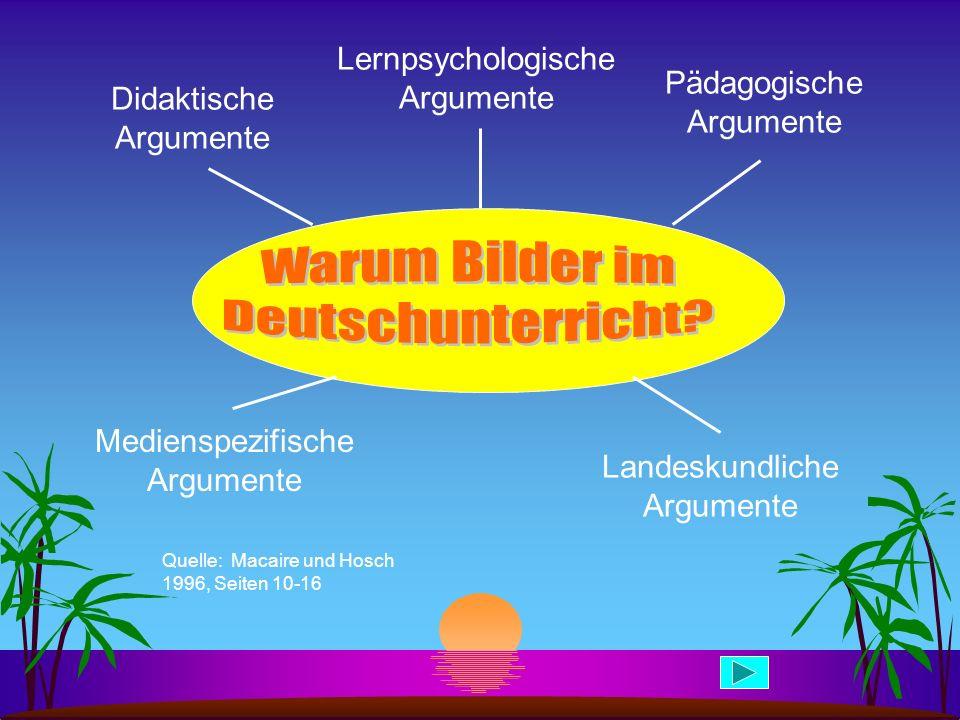 Warum Bilder im Deutschunterricht Lernpsychologische Argumente