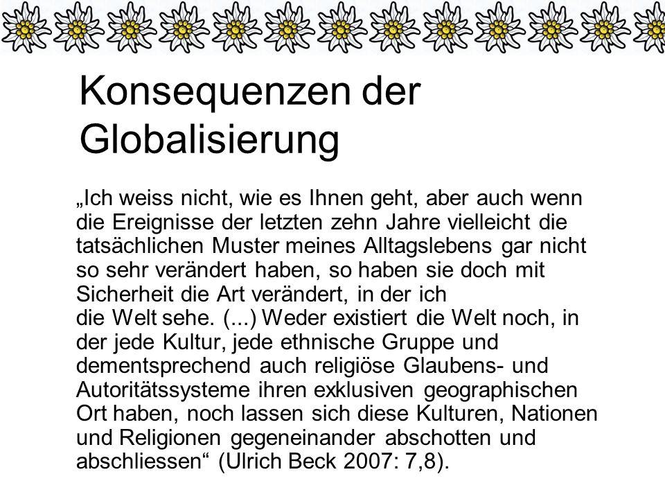 Konsequenzen der Globalisierung