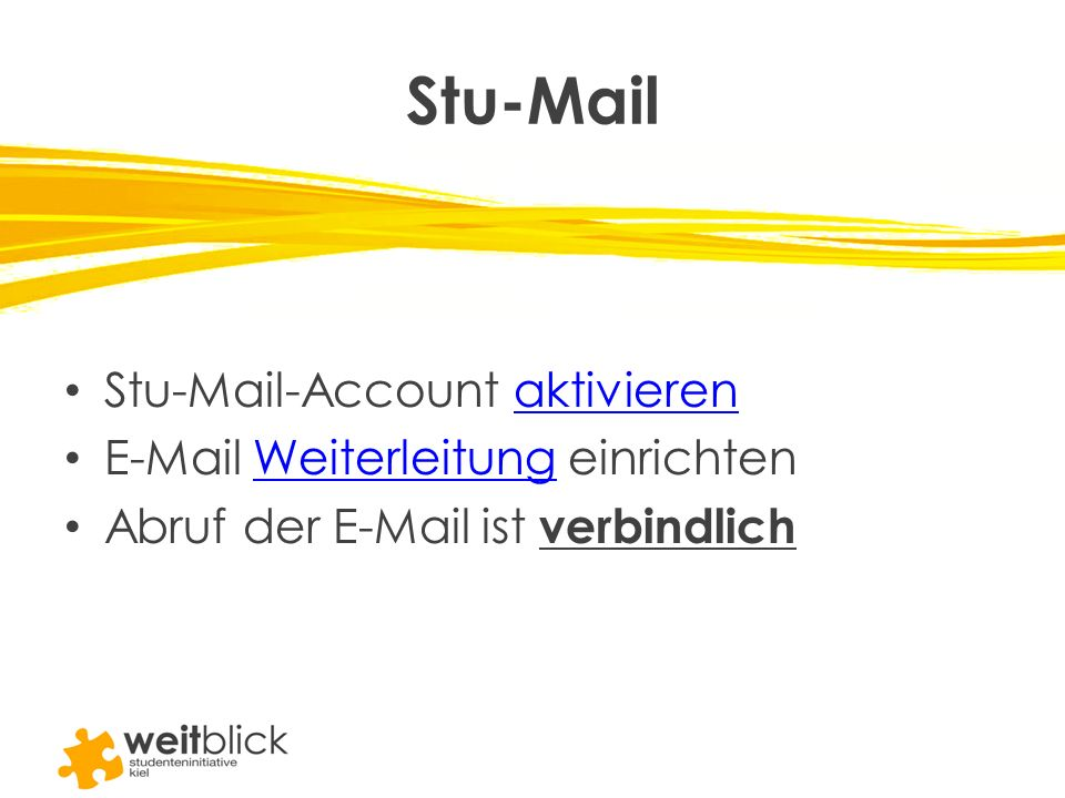 Stu-Mail Stu-Mail-Account aktivieren E-Mail Weiterleitung einrichten
