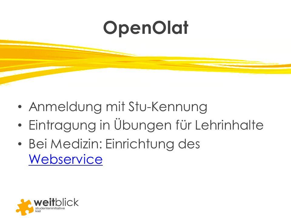 OpenOlat Anmeldung mit Stu-Kennung
