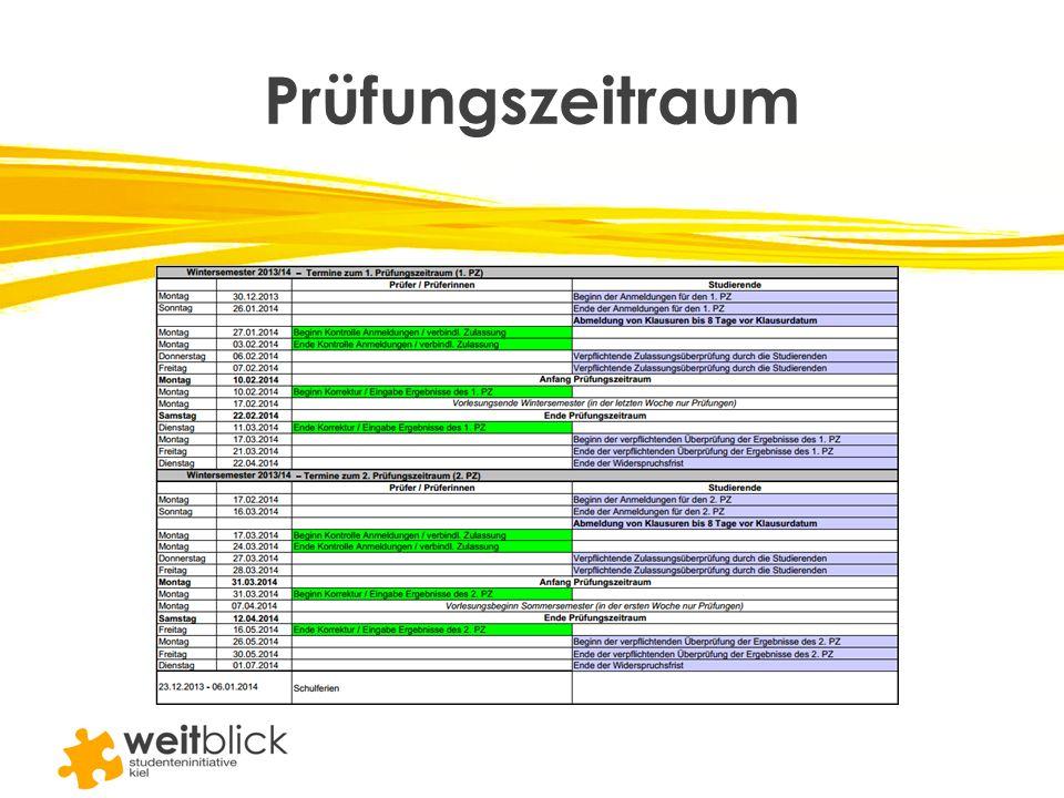 Prüfungszeitraum