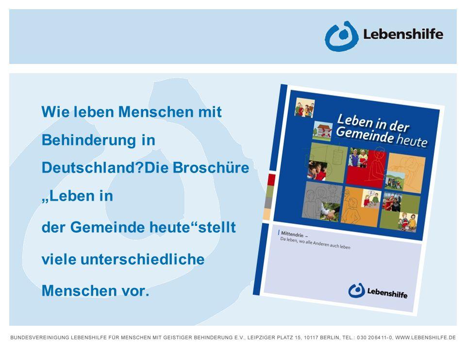 Wie leben Menschen mit Behinderung in Deutschland