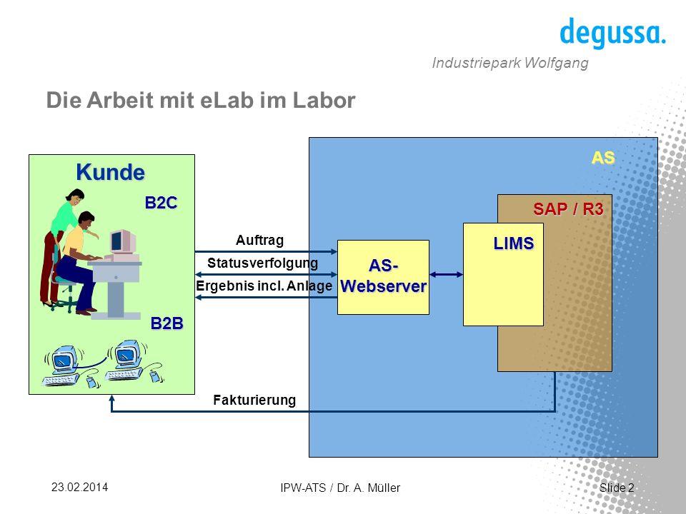 Die Arbeit mit eLab im Labor