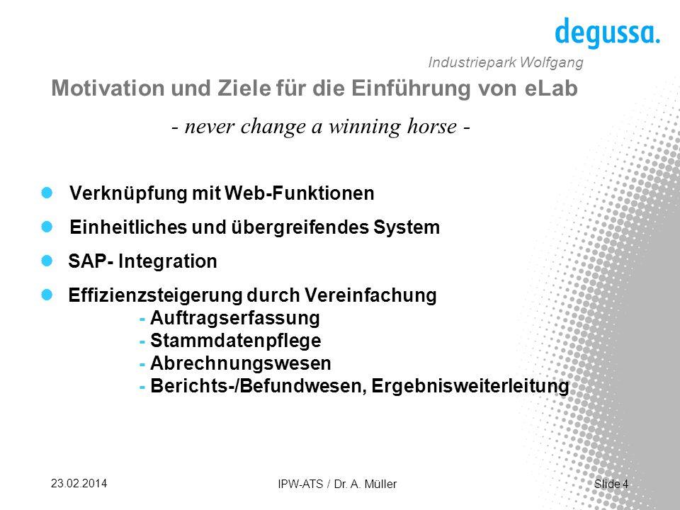 Motivation und Ziele für die Einführung von eLab
