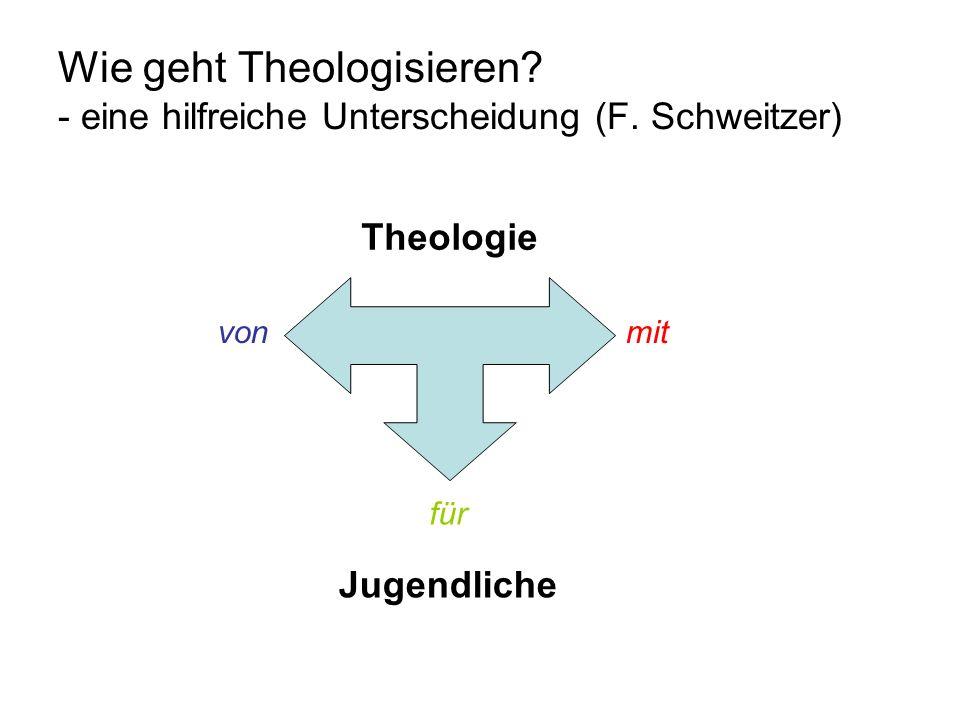 Wie geht Theologisieren. - eine hilfreiche Unterscheidung (F