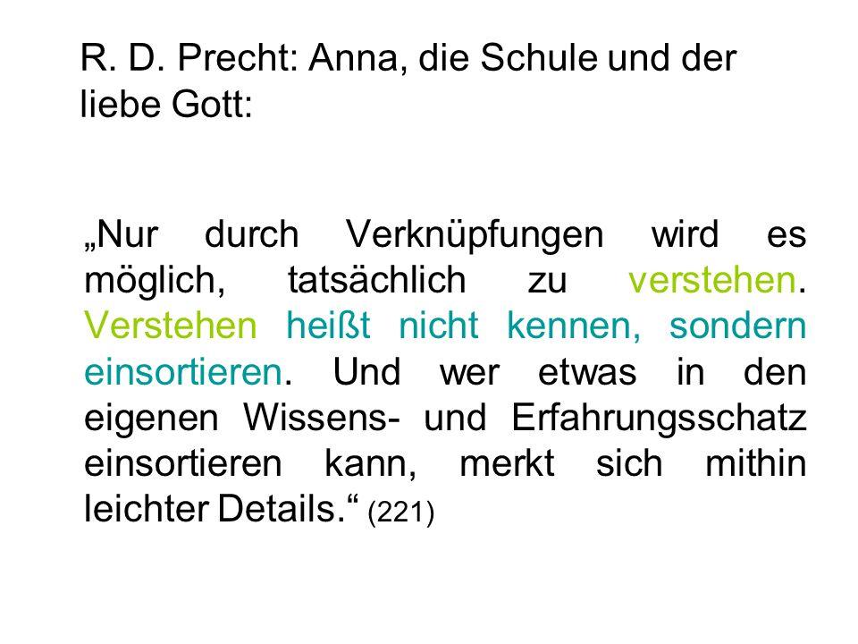 R. D. Precht: Anna, die Schule und der liebe Gott: