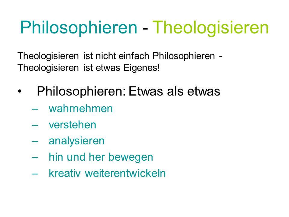 Philosophieren - Theologisieren