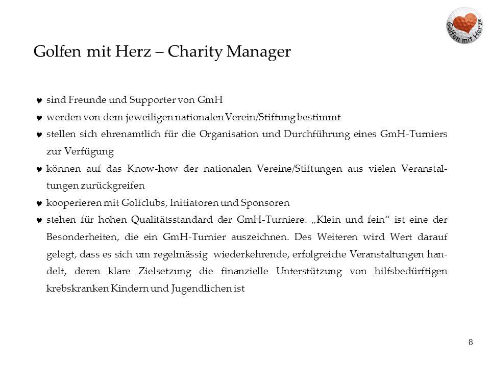 Golfen mit Herz – Charity Manager