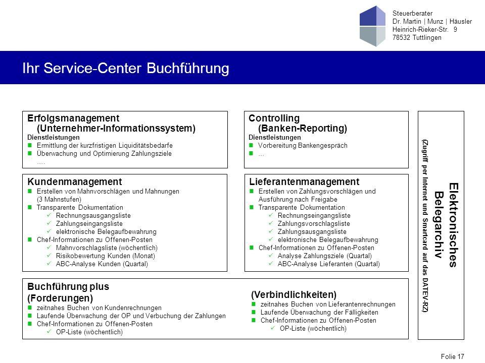 Ihr Service-Center Buchführung