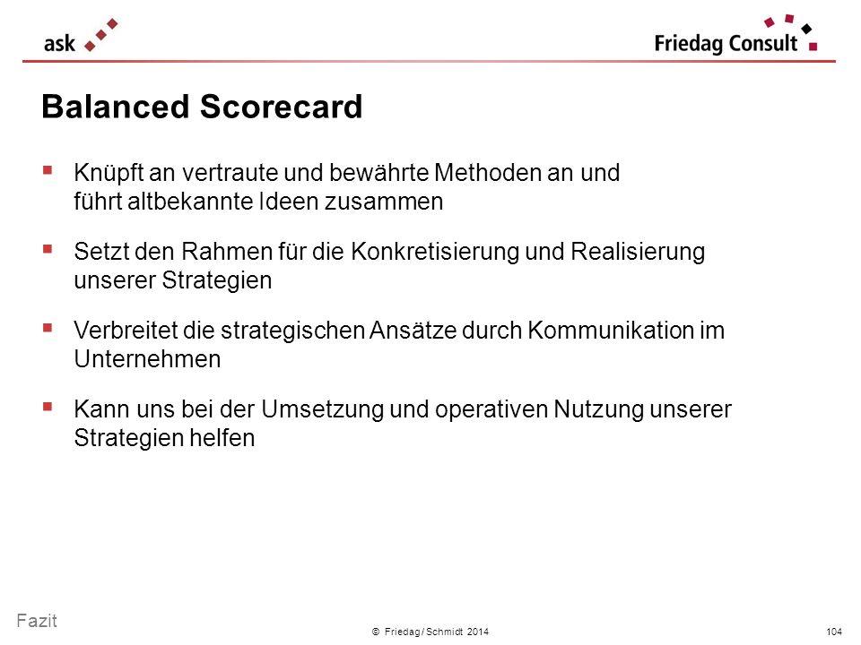 Balanced Scorecard Knüpft an vertraute und bewährte Methoden an und führt altbekannte Ideen zusammen.
