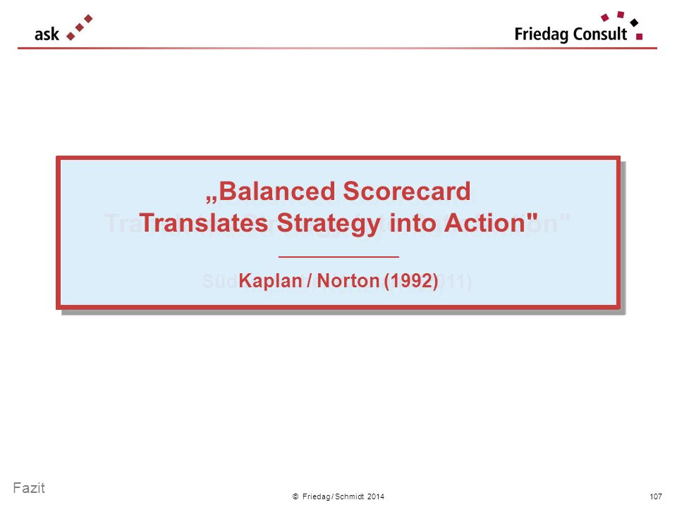"""Balanced Scorecard Translates Strategy into Satisfaction"