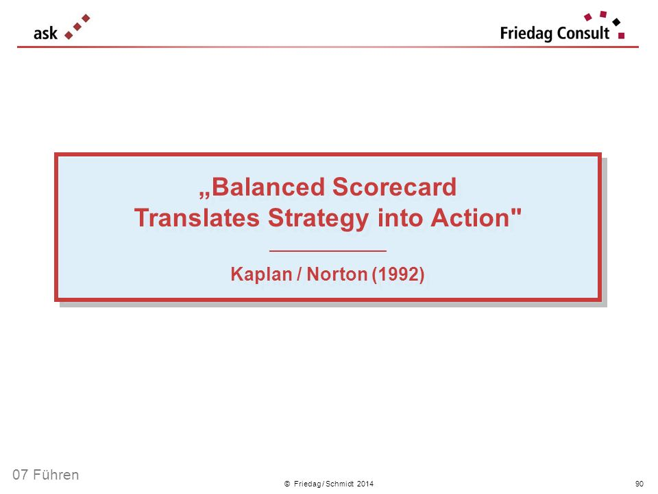 """Balanced Scorecard Translates Strategy into Action"