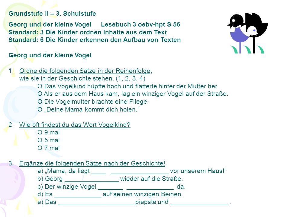 Grundstufe II – 3. Schulstufe