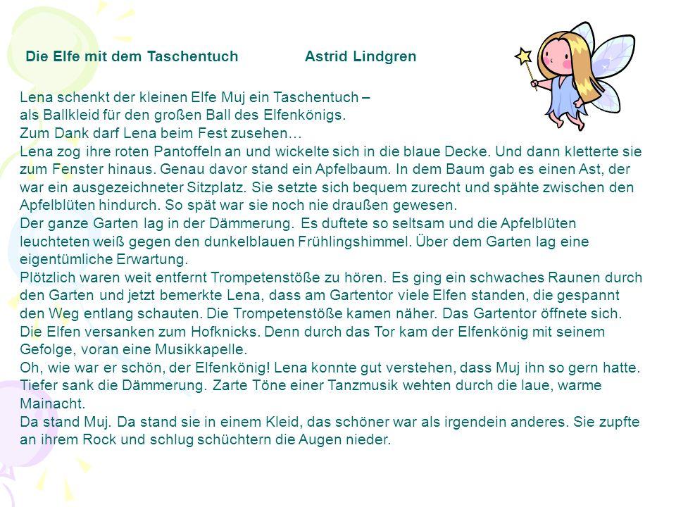 Die Elfe mit dem Taschentuch Astrid Lindgren
