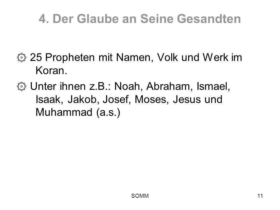 4. Der Glaube an Seine Gesandten