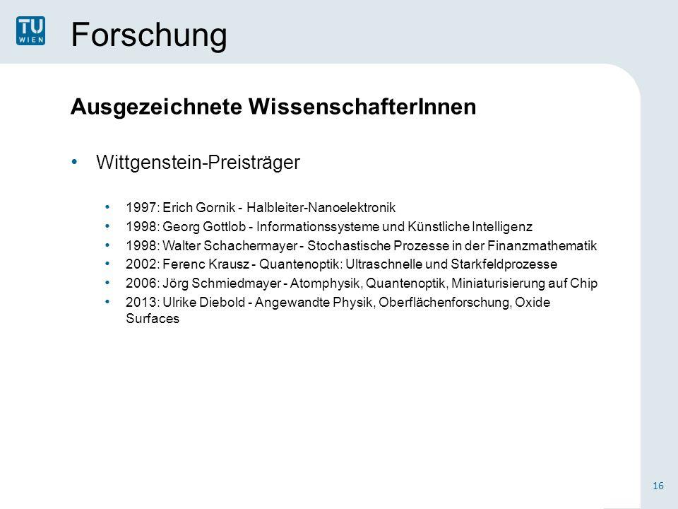 Forschung Ausgezeichnete WissenschafterInnen Wittgenstein-Preisträger
