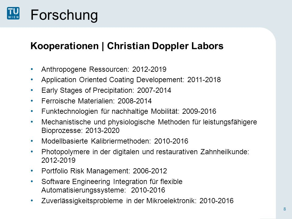 Forschung Kooperationen | Christian Doppler Labors