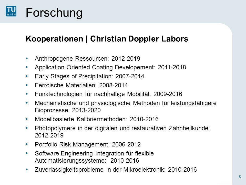 Forschung Kooperationen | Christian Doppler Labors