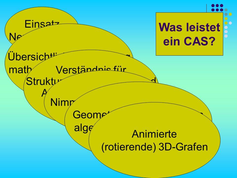Was leistet ein CAS Einsatz Neuer Medien Übersichtliche Darstellung