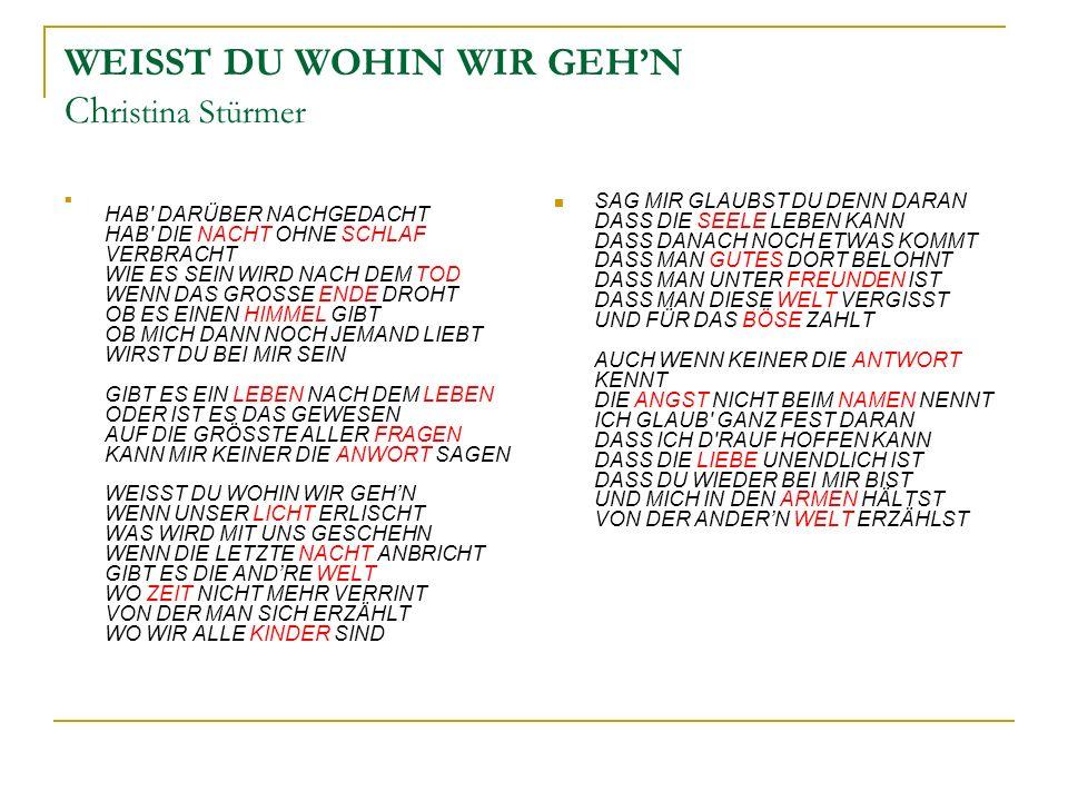 WEISST DU WOHIN WIR GEH'N Christina Stürmer