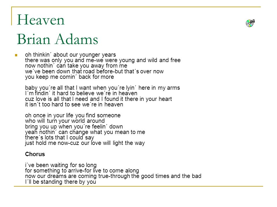 Heaven Brian Adams