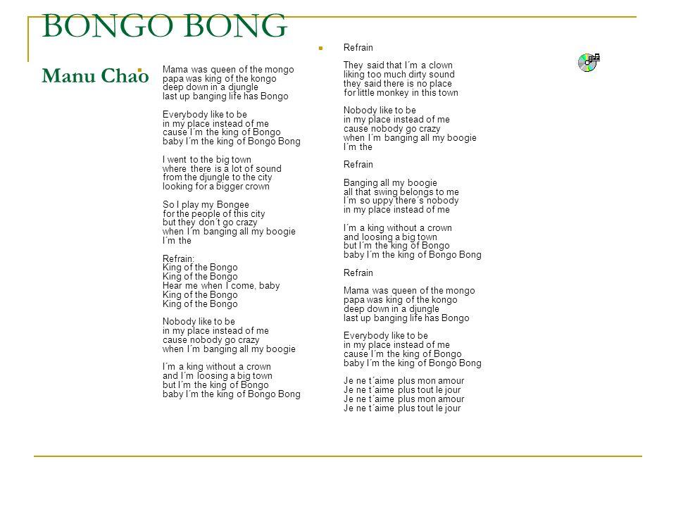 BONGO BONG Manu Chao