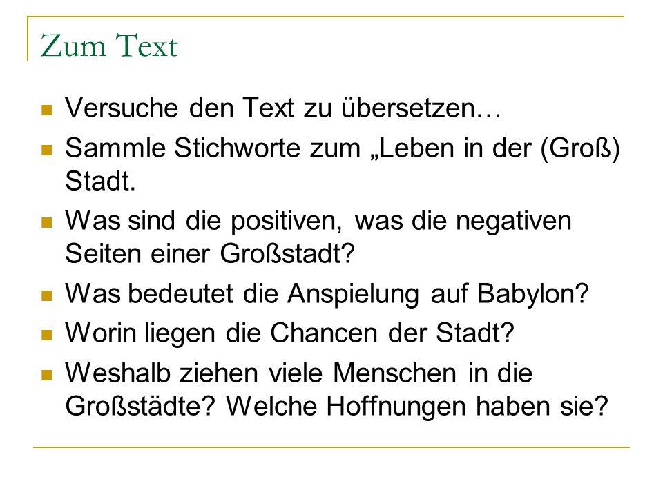 Zum Text Versuche den Text zu übersetzen…