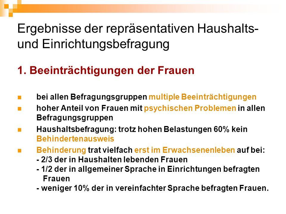 Ergebnisse der repräsentativen Haushalts- und Einrichtungsbefragung