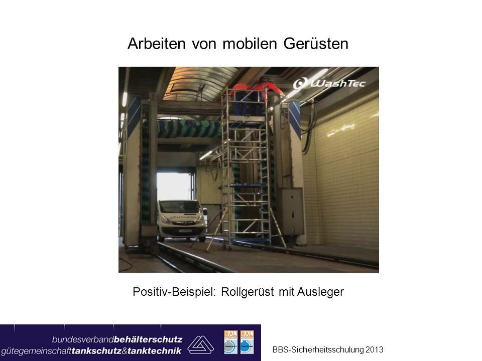 Arbeiten von mobilen Gerüsten