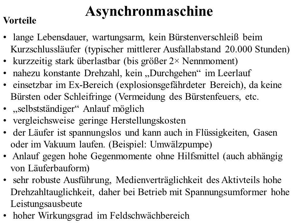 Asynchronmaschine Vorteile