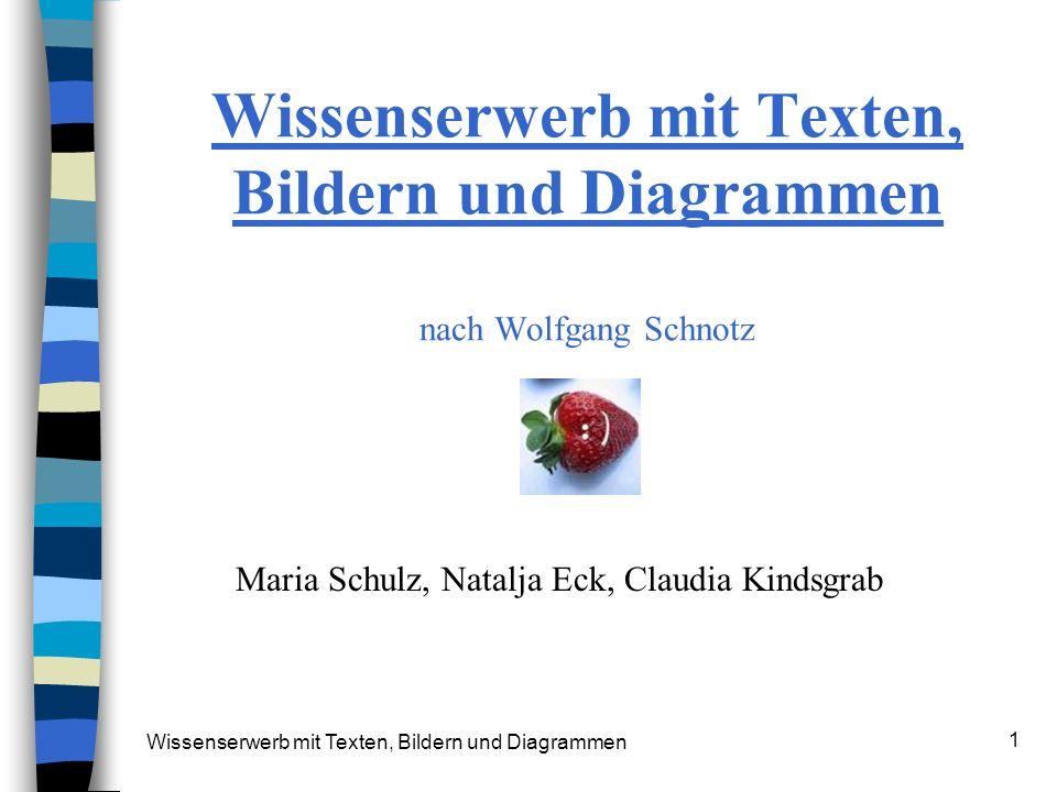 Wissenserwerb mit Texten, Bildern und Diagrammen nach Wolfgang Schnotz