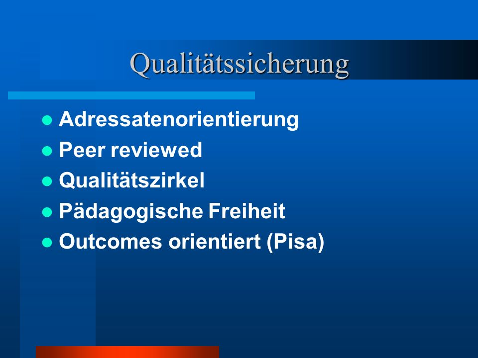 Qualitätssicherung Adressatenorientierung Peer reviewed