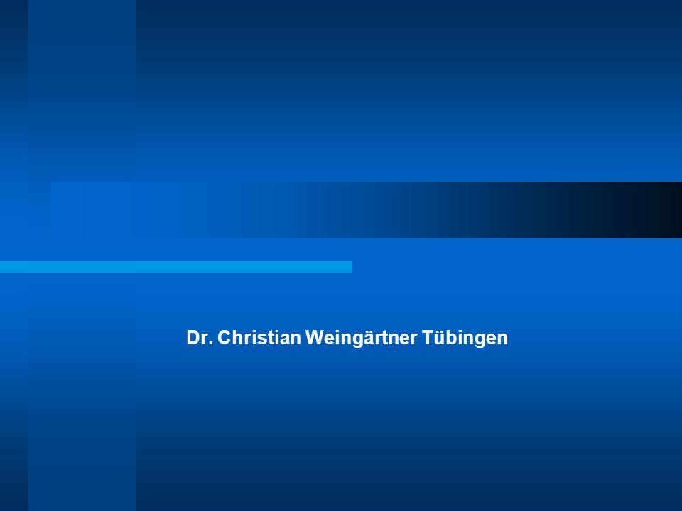 Dr. Christian Weingärtner Tübingen
