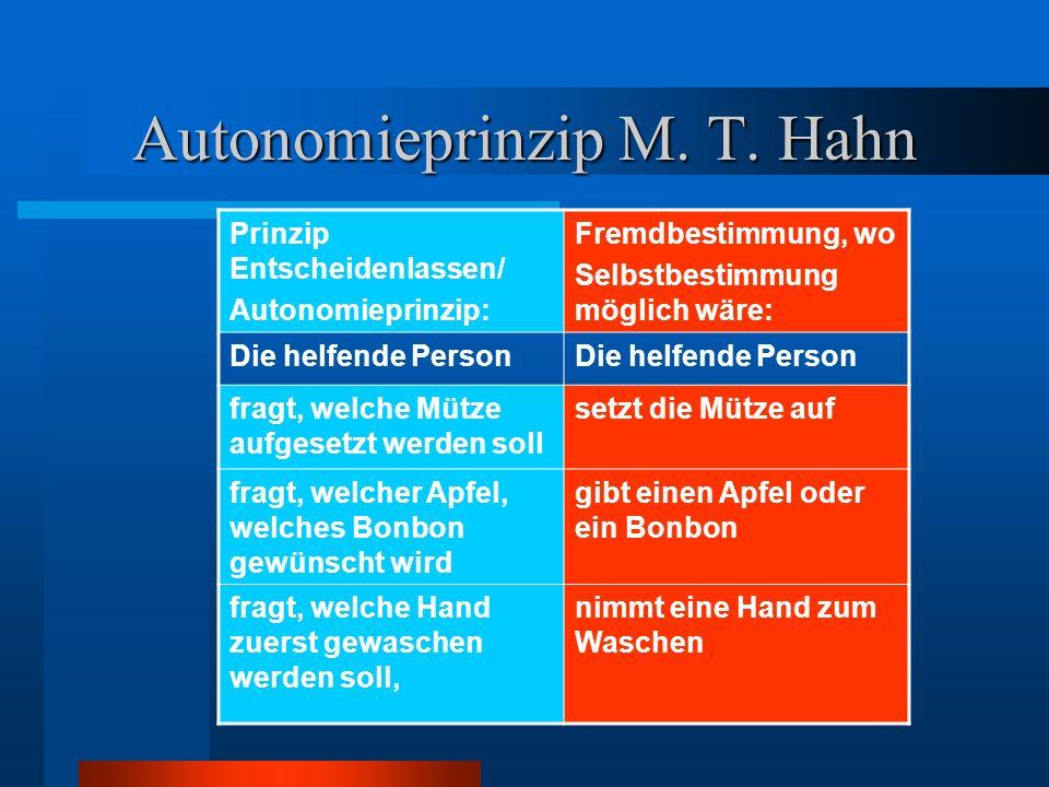 Autonomieprinzip M. T. Hahn