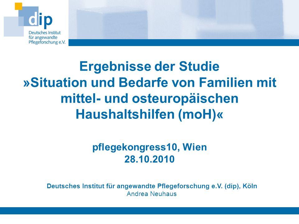Deutsches Institut für angewandte Pflegeforschung e.V. (dip), Köln