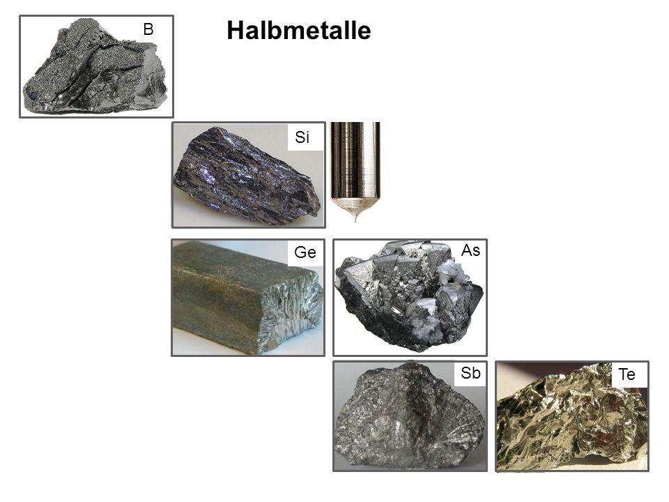 Halbmetalle B Si Ge As Sb Te