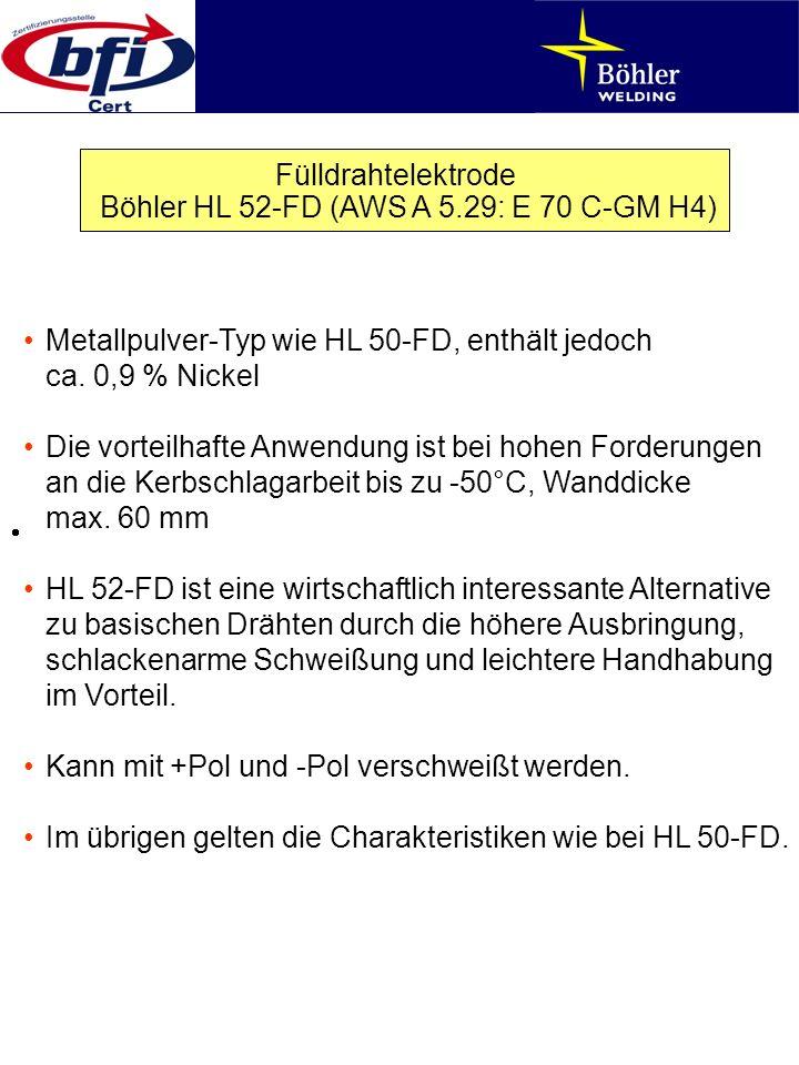 Böhler HL 52-FD (AWS A 5.29: E 70 C-GM H4)