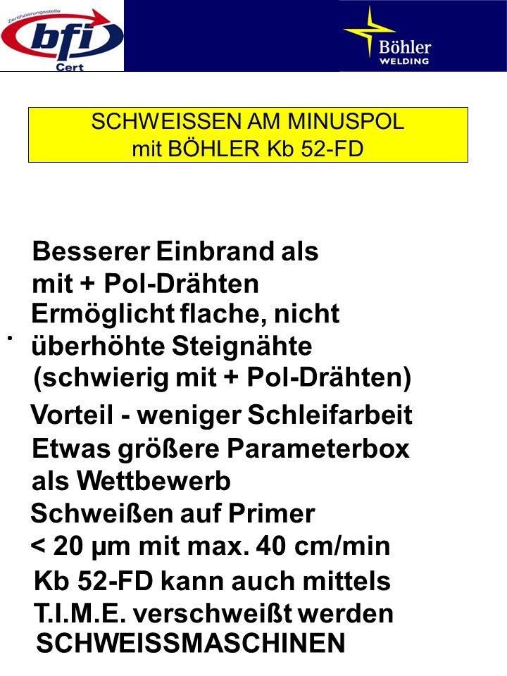 SCHWEISSEN AM MINUSPOL mit BÖHLER Kb 52-FD