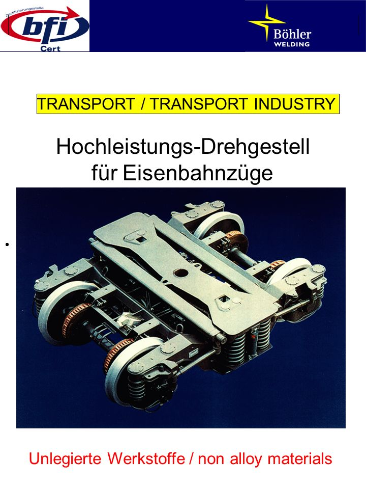Hochleistungs-Drehgestell für Eisenbahnzüge