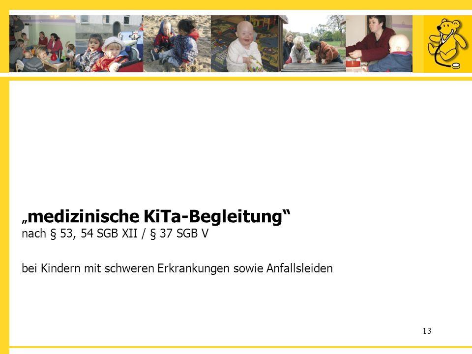 """""""medizinische KiTa-Begleitung nach § 53, 54 SGB XII / § 37 SGB V bei Kindern mit schweren Erkrankungen sowie Anfallsleiden"""