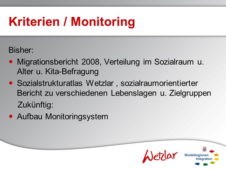 Kriterien / Monitoring