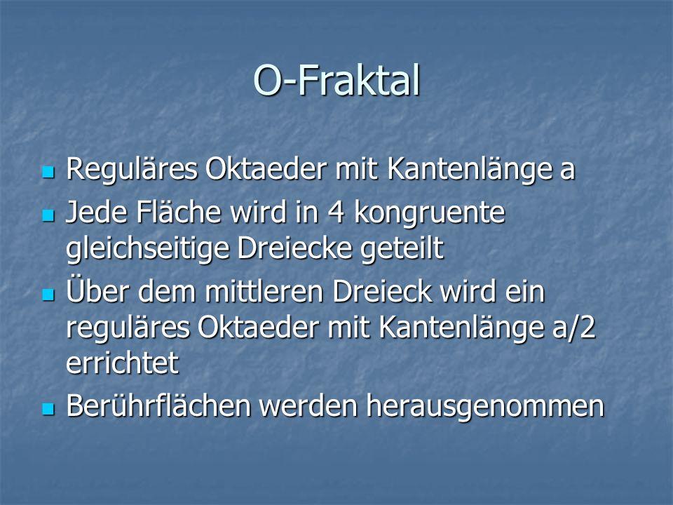 O-Fraktal Reguläres Oktaeder mit Kantenlänge a