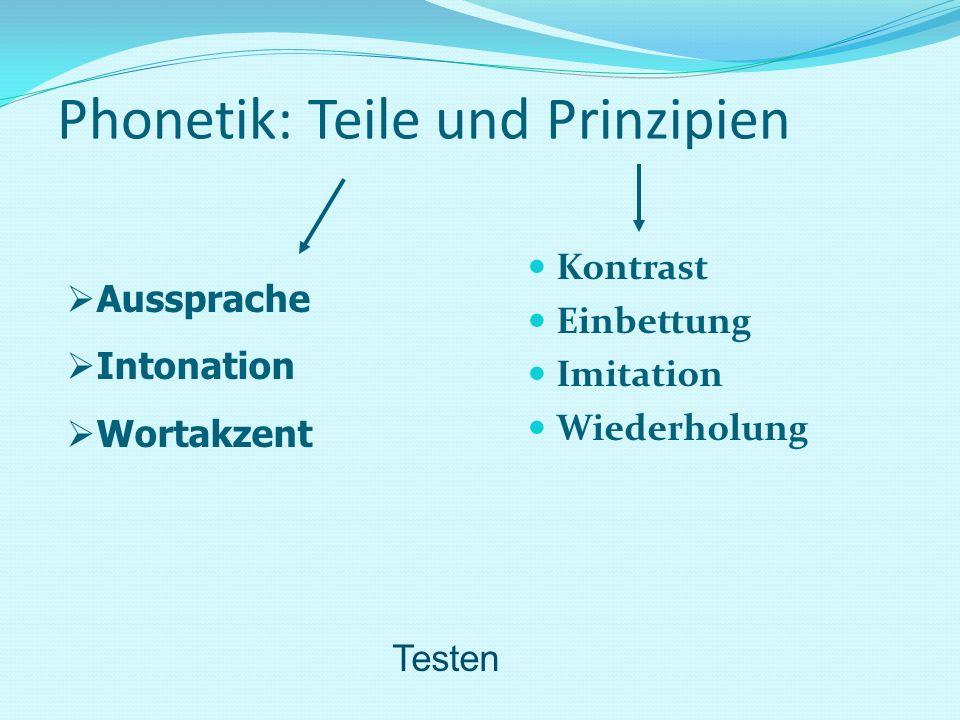 Phonetik: Teile und Prinzipien
