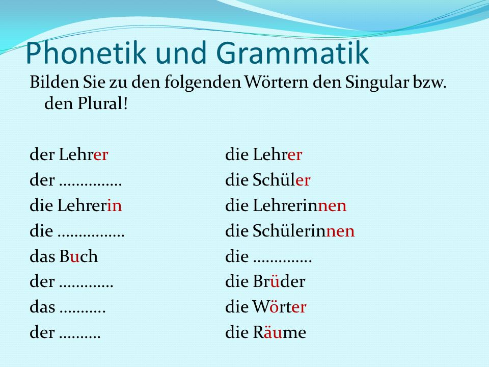 Phonetik und Grammatik