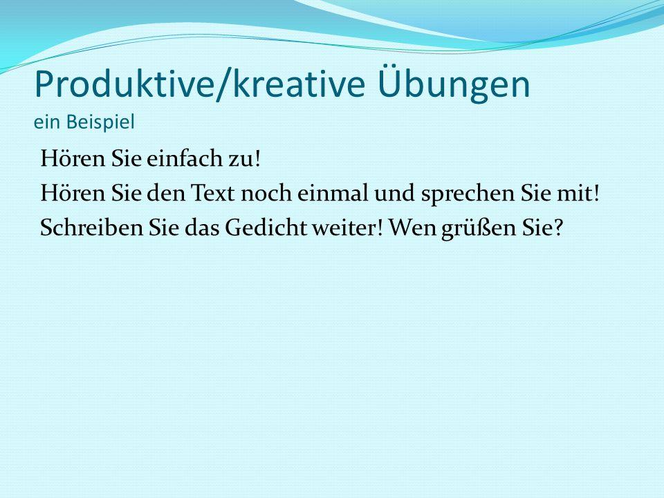 Produktive/kreative Übungen ein Beispiel