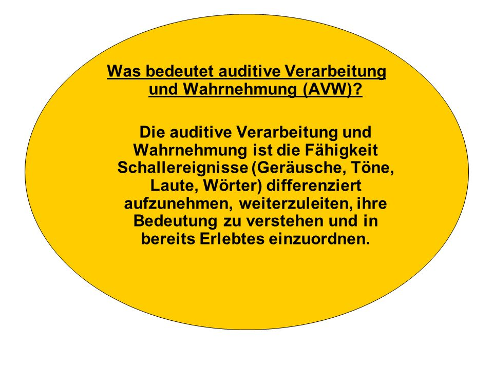 Was bedeutet auditive Verarbeitung und Wahrnehmung (AVW)