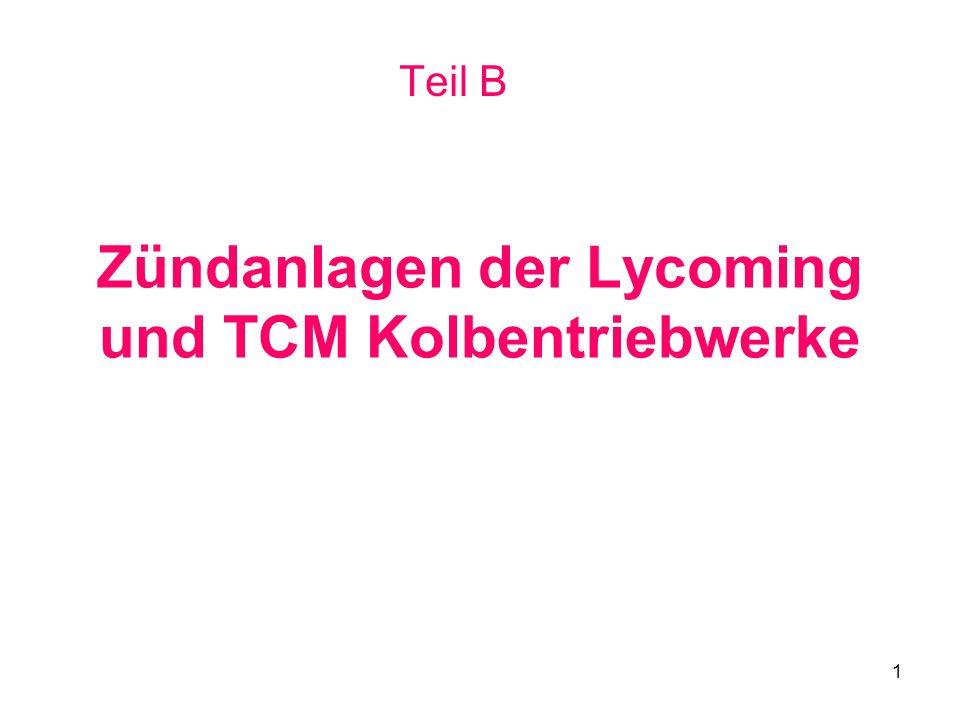 Zündanlagen der Lycoming und TCM Kolbentriebwerke