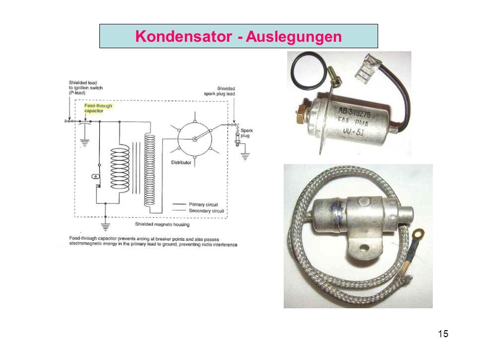 Kondensator - Auslegungen