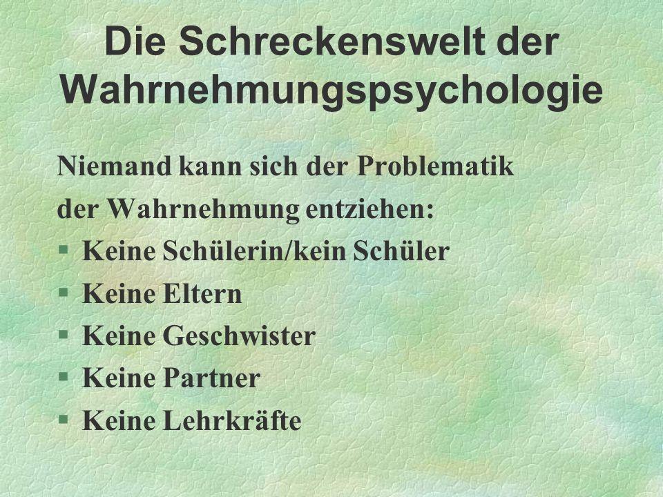 Die Schreckenswelt der Wahrnehmungspsychologie